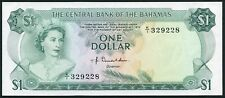 Bahamas 1$ 1974 Young QE II & Tropical Fish - P35a - UNC/AUNC