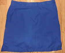 PERFECT FIT BY GREG NORMAN SIZE 10 GOLF SKORT STRETCHY SHORTS TENNIS DARK BLUE