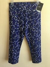 New Nike Women's Small 823475 455 Legend tight Fit Capri Printed s Blue