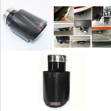 Glossy Real Carbon Fiber+Stainless Steel 63mm-89mm Car Exhaust Tip Muffler Pipe