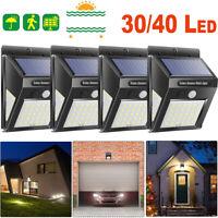 4Pcs Solar Wall Light 30/40LED Motion Sensor Waterproof Yard Outdoor Garden Lamp