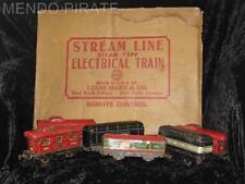 Vintage MARX STREAM LINE TRAIN Pieces With Box  N Y C