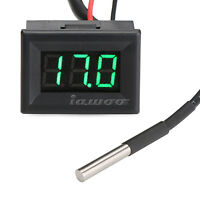 DC 12V 24V Green Led Digital Thermometer -55°c ~ 125°c Temperature Meter