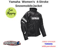 YAMAHA WOMEN'S FOUR STROKE SNOWMOBILE JACKET BLACK FXR SMW-16J4S-BK-MD MEDIUM