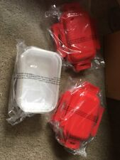 Microwave Steamer & Storage Set with Freeze N Go Lids NEW Red