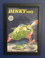 Dinky Toys 351 UFO Interceptor Gerry Anderson A4 Size Framed Poster Leaflet 1971