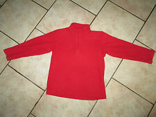 PULL POLAIRE 6 ANS - COULEUR ROUGE