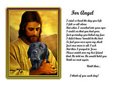 Your Dog With Jesus Pet Memorial-Custom-Made/Personalized w/Picture/Poem