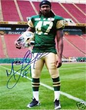Maurice Lloyd CFL Signed Photo Edmonton Eskimos RETRO