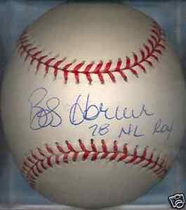Bob Horner Atlanta Braves 1978 NL ROY Autographed Signed ONL Baseball COA