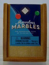 MARVELOUS MARBLES IN WOODEN BOX-THE SCHOOLYARD GAME OF FLICKING FUN!-c32
