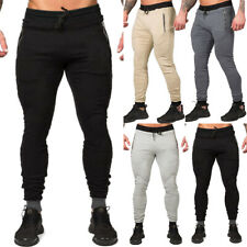 Men's Slim Fit Trousers Skinny Jogging Joggers Sports Gym Workout Pants Bottoms