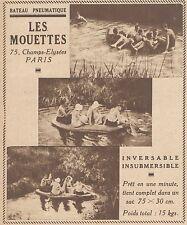 Z9243 Bateau Pneumatique LES MOUETTES -  Pubblicità d'epoca - 1932 Old advert