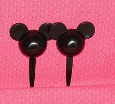 Mickey Mouse Ears,Cupcake Picks,Party,Disney12 ct.,Black Plastic,Food Safe.