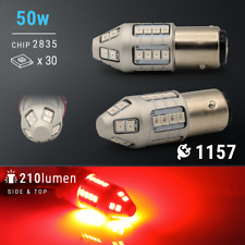 1157 Red LED Strobe Blinking Flashing Alert Brake Tail Light/Parking Bulbs