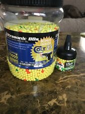New listing ~8,000 Airsoft BBs--Colt Brand--.12g Rounds 6mm Soft Air With Easy Pour Canister