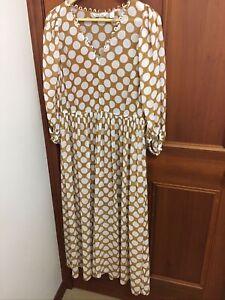 Country Road Spot Cinnamon Dress