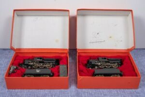 2x 4-6-0 Camelback HO Scale steam engines, Jersey Central Lines, Made in Japan