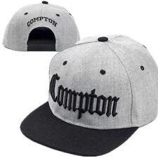 Topcul Nero Compton Ricamato Basse a Becco Cappello da Baseball Cappelli