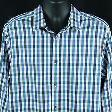 Gap Mens Size XL 17 17.5 Slim Fit Shirt Plaid Checks Checkered Extra Large