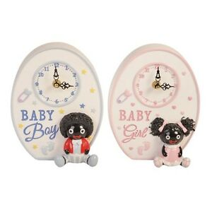 Adorable Resin Dolly Baby Childs Clock Childrens Baby Nursery Decor