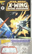WIZARD #1/2  STAR WARS X-WING ROGUE SQUADRON  WITH C.O.A. 1997 NICE!!!!