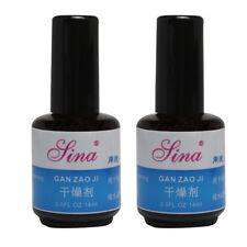 2Pcs 14ml Quick Dry Dryer Liquid Disinfection Desiccant for DIY Nail Art Polish