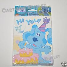 BLUES CLUES INVITATIONS 8 PC PARTY BIRTHDAY SUPPLY 8 THANK YOU CARDS  NICK JR