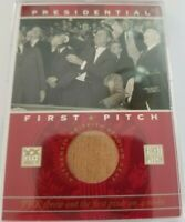 John F. Kennedy 2002 Topps Presidential First Pitch Griffith Stadium Seat !!!