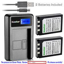 Kastar Battery LCD Charger for Olympus Li-10B & Stylus 600 Stylus 600 Digital