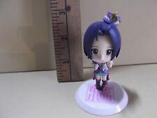 "#B61 Unknown Anime 2.5""in Dark Blue Hair Girl Wearing Purple Top Hat"