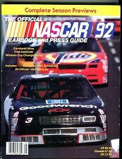 The Official NASCAR Yearbook Press Guide 1992 Dale Earnhardt EX 040317nonjhe