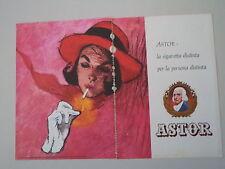 advertising Pubblicità 1962 SIGARETTE CIGARETTES ASTOR