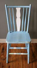 Antique Vintage Old Solid Wood Wooden Spindle Fiddle Back Side Dining Chair