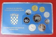 *Kroatien KMS Kursmünzensatz 1994 PP / 1 Lipa-5 Kuna 9 Münzen Selten!