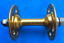 NOS 1983 GOLD ANODISED SUZUE FRONT HUB,36H,OLD SCHOOL RALEIGH SUPER BURNER BMX