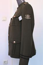 Damen Jacke Military -Look weicher Sweat Blazer Blouson olivgrün Gr. 40-42 -NEU!