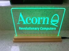 More details for acorn computer  edge lit green led acrylic sign