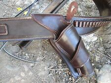 D.A.D CUSTOM LEATHER   Plain  Leather Cross Draw  Western Cowboy  Holster  Brown