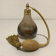 Vintage. Smokey Brown Bubble Glass Vanity-Atomizer Made in Germany 13.5cm #404