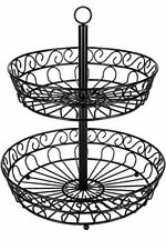 Chefarone fruit bowl - 30 cm 2-tier fruit basket for more space on the worktop -