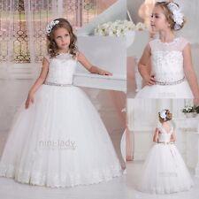 Neu Blumenmädchen Kleid Kommunionkleid Mädchen Festkleid Ballkleid 2-14