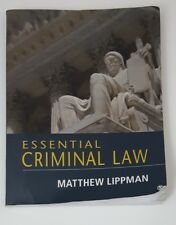 Essential Criminal Law by Lippman, Matthew 1st Edition