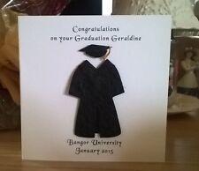"""Graduazione abito e cappello laurea carta personalizzata 6"""" figlia figlio nipote Exam"""