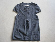 Pull top IKKS gris taille M manches courtes