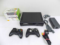 Xbox 360 Console + 2x Wireles Xbox 360 Controllers + 10X Very Popular Games