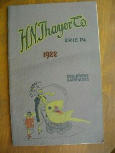 1922 H.N. THAYER BABY CARRIAGE CATALOG + Price List Insert RARE!! Complete