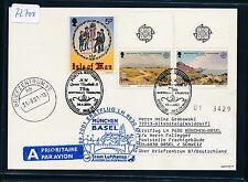 72700) LH/AA FF München - Basel Schweiz 3.9.2001, Kte Isle of Man