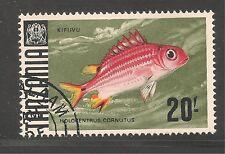 Tanzania #34 (A4)  VF POSTAL USED - 1967 20sh Squirrelfish - Fish