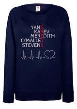Greys Anatomy Ladies Fit Sweatshirt - Greys Names - 100% Cotton